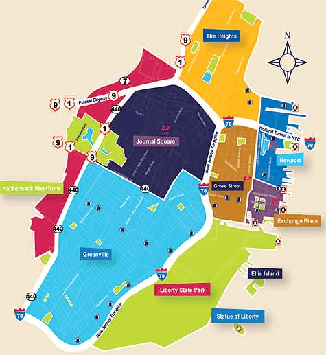Jersey City Neighborhood Map My Blog - Map of jersey city