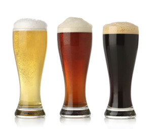 Three cold beer