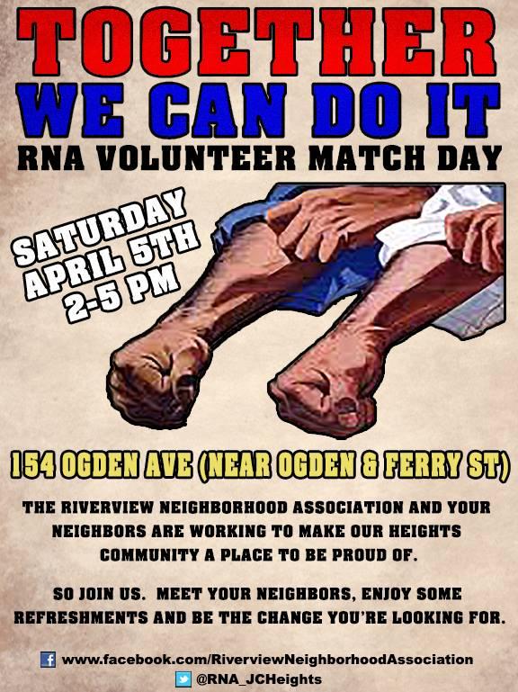 RNA Volunteer Match Day 4/5/14