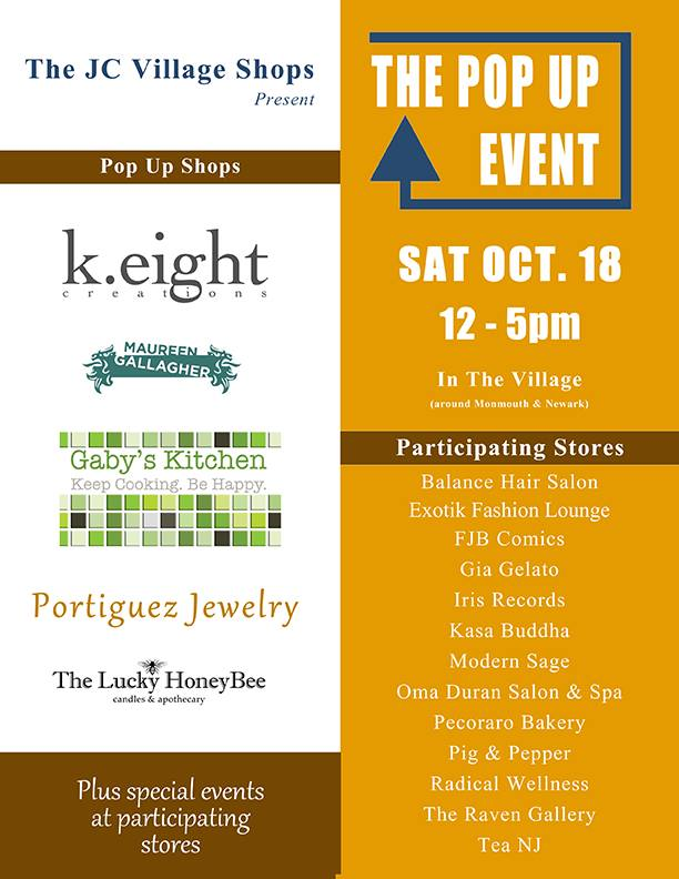 Pop Up Shop! Saturday 10/18
