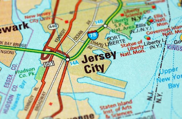 NJ MAP  Jersey City Gal