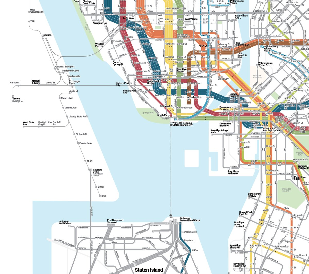 The Bullet Map: Comprehensive Transit
