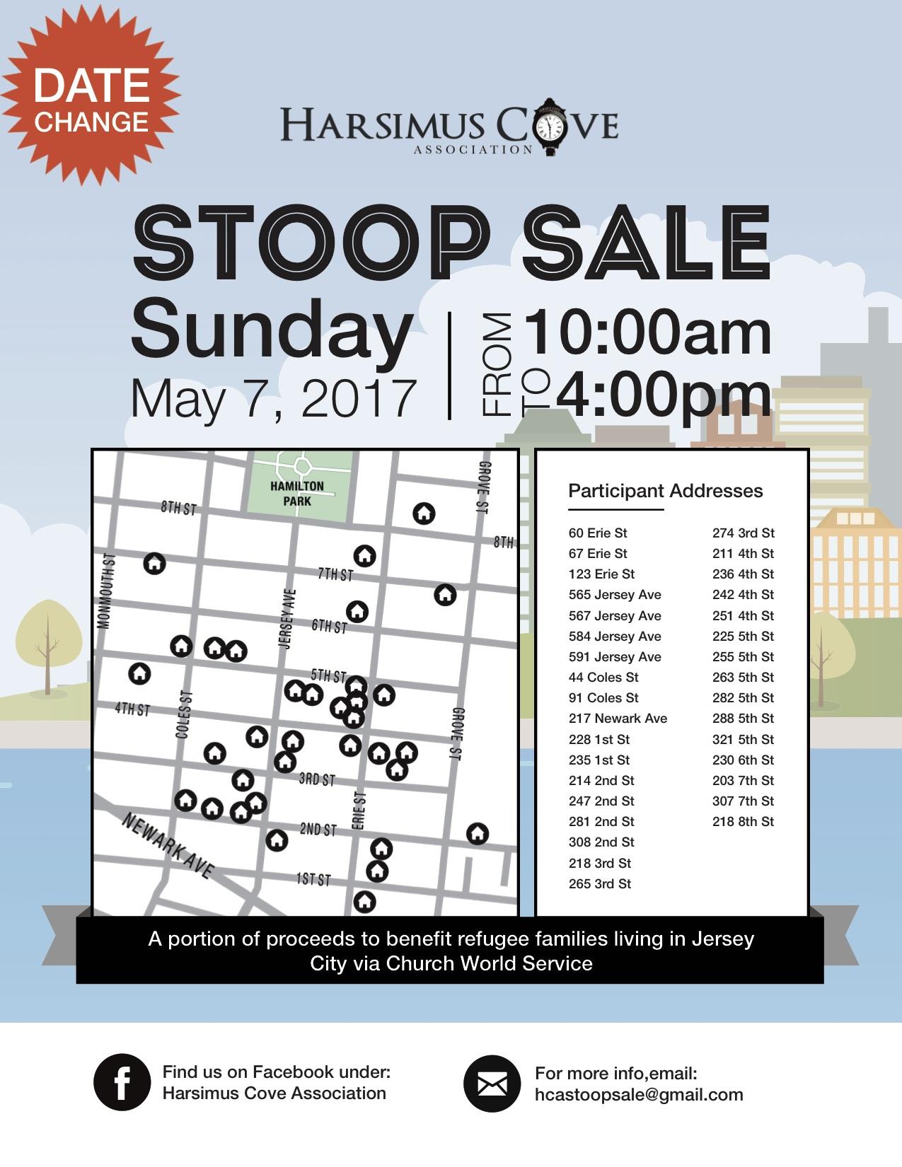 Harsimus Cove Stoop Sale [This Sunday]